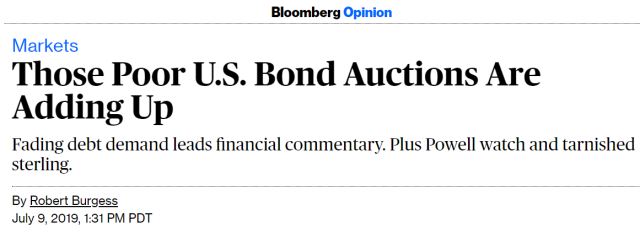Poor Bond Auctions